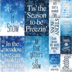 Snowflake Ridge Scrapbook Stickers 12x12 by Reminisce