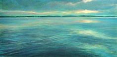 Lindsey Love - Last Light on Little Bear Lake acrylic/canvas Acrylic Canvas, Condo, Landscapes, Waves, Bear, Gallery, Artist, Artwork, Painting