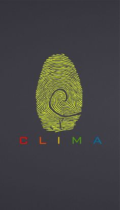 Climate change and carbon print inspired logo. #yellow #grey #rainbow