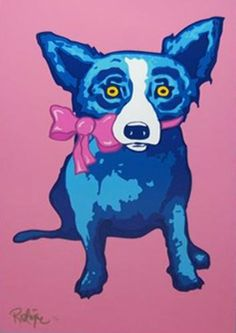 """Blue Dog George Rodrigue""""Sweetie Pie"""" 1997 Limited Edition Print"""