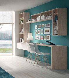 cool Things You Won't Like About Trends This Year Small Home Office Furniture Design Ideas and Things You Will For quite a few, home design is an amazingly. Study Room Design, Study Room Decor, Home Room Design, Home Office Design, Home Office Decor, Home Decor, Bedroom Decor, Small Home Office Furniture, Home Office Space