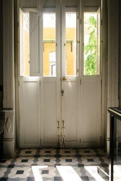 shuttered folding doors and fabulous floor