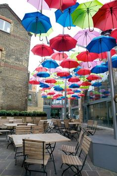 Umbrella Art Installation at Borough Market  UK- London. Just discovered this installation and I'm in love. Planning to go back on a sunny warm day!  -check!