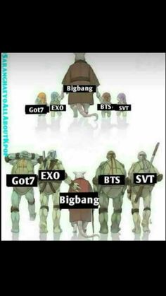 I love tmnt and bts anf kpop in general so. K Pop, Bts Memes Hilarious, Exo Memes, Seungri, Bigbang, Got7, Day6 Sungjin, Bts And Exo, Bts Boys