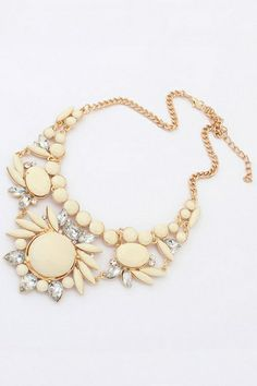 Nice Faux Stone Bib Necklace OASAP.com