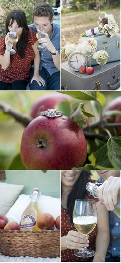 Love the ring sitting on the apple