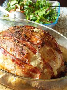 Gotowanie jest łatwe: Kalafior zapiekany z mięsem i boczkiem Pork, Turkey, Chicken, Anna, Cooking, Kale Stir Fry, Turkey Country, Pork Chops, Cubs
