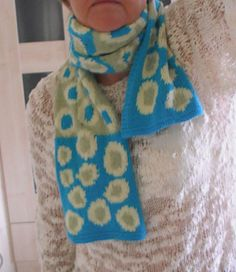 spotty scarf from ravelry