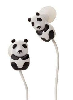Panda ear buds - want!