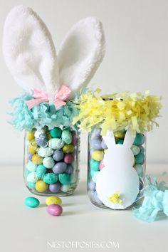 TUTORIAL - Mason Jar Easter Basket Ideas by Nest Of Posies KellyRitzRealtor.com