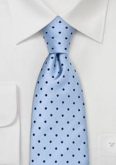 Krawatte Punkte hellblau