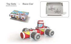 Toy Brick Yogurt Branding