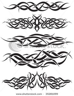 Stock Vector Illustration:  Patterns of tribal tattoo for design use