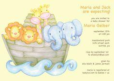 PRINTABLE INVITATIONS Baby Shower - Noahs Ark Baby Shower Invitation
