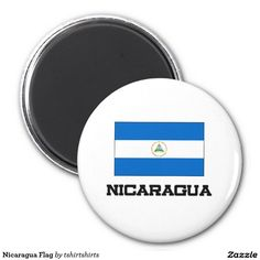 Nicaragua Flag 2 Inch Round Magnet