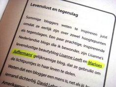 Hoe een blog tot stand komt. Blog op:  http://www.marloesjuffermans.nl/bloggum/hoe-een-blog-tot-stand-komt. Mijn blog in het boek Bloggen als een pro. Wat een eer!