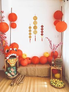 Discover recipes, home ideas, style inspiration and other ideas to try. Chinese New Year Party, Chinese New Year Decorations, Chinese Holidays, New Year Holidays, New Years Decorations, Festival Decorations, New Years Party, Vientiane, Blue Table Settings