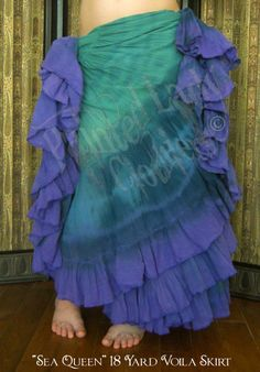 """""""Sea Queen"""" 18 Yard Voila Skirt   You can order yours here: http://www.paintedladyemporium.com/Shop-Here.html"""