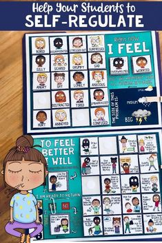 Teachers & Parents, Add This Feelings Check-In & Self-Regulation Book To Your Classroom or Home - Mindfulness Activities, Mindfulness Exercises, Counseling Activities, Feelings Activities, Therapy Activities, Therapy Ideas, Art Therapy, Learning Activities, Calm Down Corner