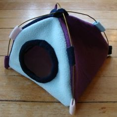 Tutorial! How to make a cozy pet tent for rats/small animals! Origin: http://www.squidoo.com/how-to-sew-a-small-animal-tent