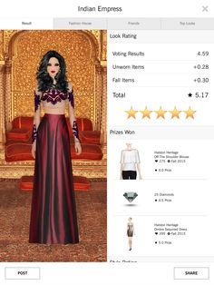 Covet Fashion 4.50+ rating - Indian Empress