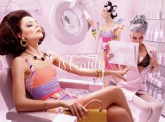 This Miles Aldridge MAC Feature Highlights Retro Hair and Makeup #photography trendhunter.com