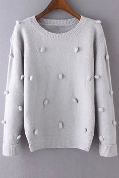 Pure Color Jewel Neck Long Sleeve Jumper - A Winter Outfits, Cool Outfits, Winter Clothes, Fashion Beauty, Womens Fashion, Romwe, Knitwear, Winter Fashion, Pure Products
