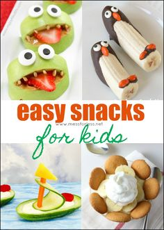 Here are some fun snack ideas for the kids that are easy to prepare. It doesn't take much to make snack time fun and special. Here are some Easy Snacks for Kids to inspire you.