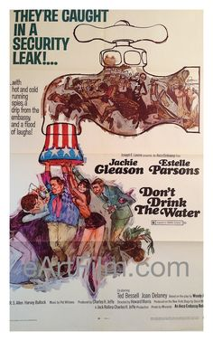 Happy Birthday #WoodyAllen https://eartfilm.com/search?q=woody+allen #screenwriters #screenwriting #screenplay #directors #directing #writers #writing #woody  Don't Drink The Water 1969 Original U.S One Sheet Movie Poster