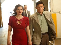 Agent Carter. Peggy Carter. Daniel Sousa. Peggy Sousa. Season 2. Hayley Atwell. Enver Gjokaj.