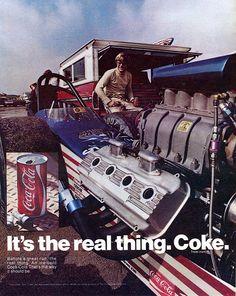 1971 Coca Cola Coke Advertising Hot Rod Magazine March 1971