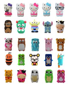 Cartoon Animals Silicone Rubber Gel Tpu Case Cover Skin For iPhone 4 4s 5 5s 5c  #UnbrandedGeneric