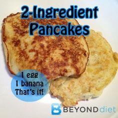 2-Ingredient Pancakes   Beyond Diet