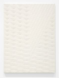 Tauba Auerbach art Slice III  2012  Woven canvas on wooden stretcher  60 x 45 inches   152.4 x 114.3 cm #want #art