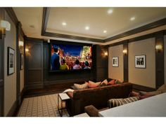 Who wouldn't lounge in this home theater and watch movies all day? Atherton, CA Coldwell Banker Residential Brokerage $18,900,000