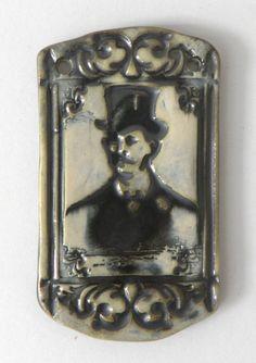 Ceramic Pendant Mens Womens Steampunk Victorian Large by BluMudd, $10.00