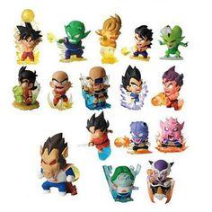 16pcs figurine Dragon ball z resine figure toys lot 2016 New 5cm Q version super saiyan 3 goku vegeta figuras 80's