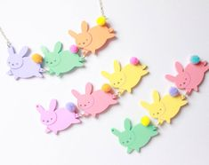 Easter Bunny Jewellery by Pony People x I Love Crafty