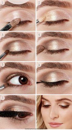 TOP Silvester Make-up: 10 Tipps für braune und blaue Augen! - Beauty - ZENIDEEN - Schminktipps für Silvester Make-up Estás en el lugar correcto para healthy breakfast Aquí present - Best Eyeshadow For Brown Eyes, Bright Eyeshadow, Makeup Looks For Brown Eyes, Natural Eyeshadow, Natural Makeup, Pigment Eyeshadow, Cream Eyeshadow, New Year's Makeup, Eye Makeup Tips