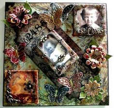 FRIENDS in ART: Mixed Media Collaged Mini Book
