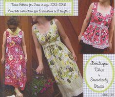 Serendipity Studios Claire Cami Dress Tunic Pattern XXS XXL | eBay