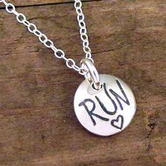 Run Necklace - Running Jewelry - Marathon Jewelry for Runners. $19.00, via Etsy.