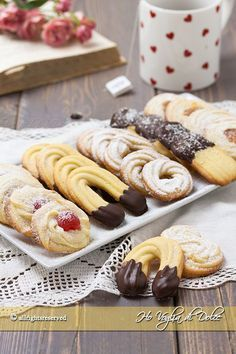Cocoa shortbread by Christophe Felder - HQ Recipes Biscotti Cookies, Biscotti Recipe, Cookie Recipes, Dessert Recipes, Biscuits, Italian Cookies, Mini Desserts, Christmas Baking, How To Cook Pasta