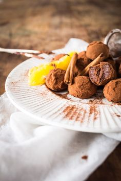 truffes au chocolat orange &cannelle