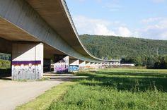 Graffiti-Open-Air-Walk @ Bridge Gallery Lörrach | subculture Freiburg Graffiti, Urban Street Art, Bridge, Sidewalk, Walking, Gallery, Freiburg, Roof Rack, Bridge Pattern