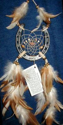Handmade Horseshoe Dreamcatcher by OriginalsByCathy on Etsy, $22.00.  I have one. It's beautiful!