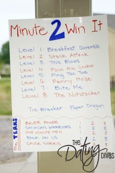 minute to win it party - link to all games by mollie