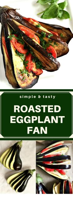 Roasted eggplant fan with chicken, cheese and tomatoes, an impressive alternative to the classic stuffed eggplant (aubergines). So delicious, and making it is easier than you would think.