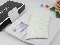 Chelsea Wallets 1955 All White Leather and Strong C Logo
