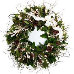 Winter White Fresh Christmas Wreath